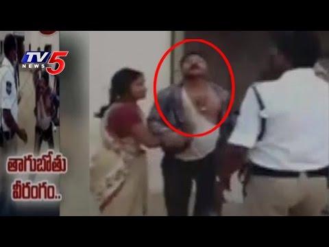 Drunken Man Attacks on Police Constable | Siddipet Police Station | Telugu News | TV5 News