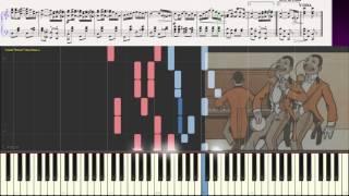 The Entertainer - Scott Joplin (Ноты и Видеоурок для фортепиано) (piano cover)