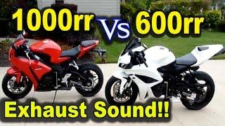 5. Honda CBR1000rr vs CBR600rr Exhaust Sound - Two Brothers vs Hyperflo Exhaust Sound