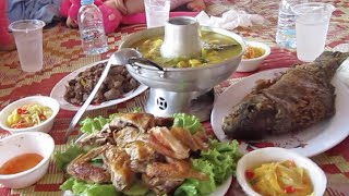 Kratie Cambodia  city pictures gallery : Khmer special foods at Kampi resort, Kratie province, Kingdom of Cambodia