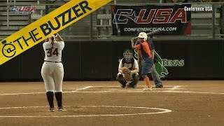 Injured college player does something awesome in her final at-bat by @The Buzzer