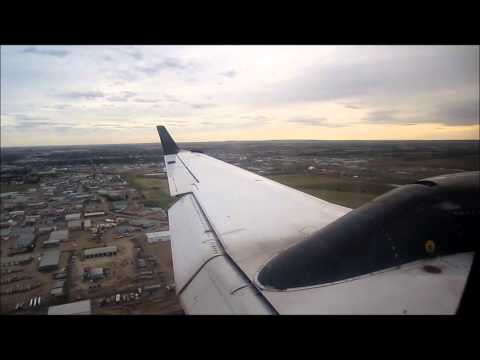 lloydminster - After a quick 1 hour flight from Calgary, CMA flight 785 skims the clouds and begins its decent into Lloydminster flying on the north side of the city before...