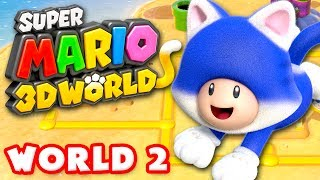 Super Mario 3D World - World 2 100% (Nintendo Wii U Gameplay Walkthrough)