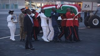 Body of Lucy Kibaki arrives from London