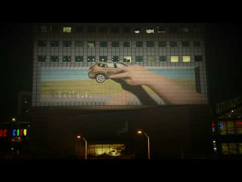 BMW   Joy   An Interactive 3D Building Projection