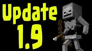 "Minecraft 1.9 Update - Skeleton New Animations ""Combat Update"" Gameplay!"