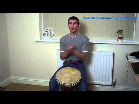 Djembe Lesson : Sliding solo phrase in 4/4