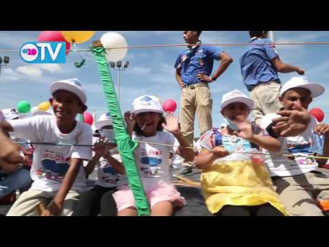 Por la lucha contra el cáncer infantil, realizan marcha de los globos