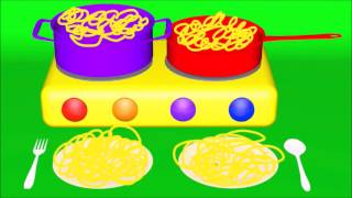 Video Learn colors counting names of fruits and vegetables cook spaghetti MP3, 3GP, MP4, WEBM, AVI, FLV Desember 2017