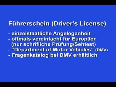 DEUTSCH: Leben und Arbeiten in den USA (Living and Working in the USA in German)