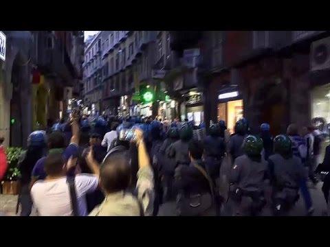 Ιταλία: Συγκρούσεις αστυνομικών-διαδηλωτών σε αντικυβερνητική πορεία διαμαρτυρίας