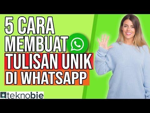 🤩 5 Cara Membuat Tulisan Unik (di Whatsapp)