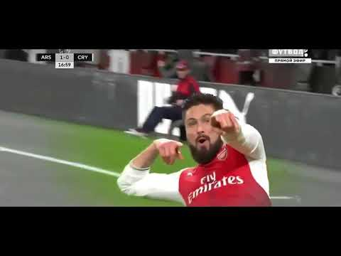Olivier Giroud * Scorpion kick * Arsenal - Crystal Palace / English Premier League 2016/17