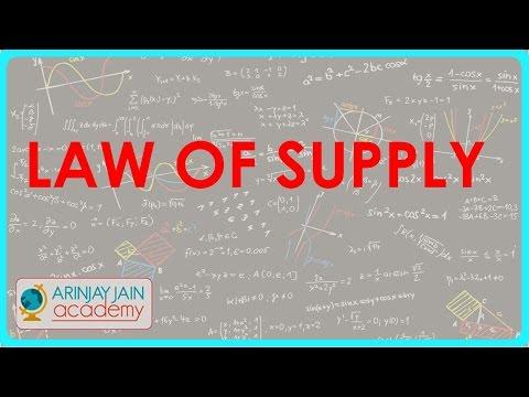Gesetz des Angebots