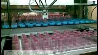 Stazione di de pallettizzazine flaconi per cosmetici
