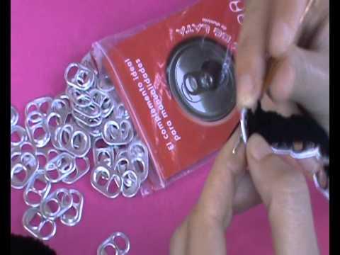 Monedero de anillas de latas de refresco