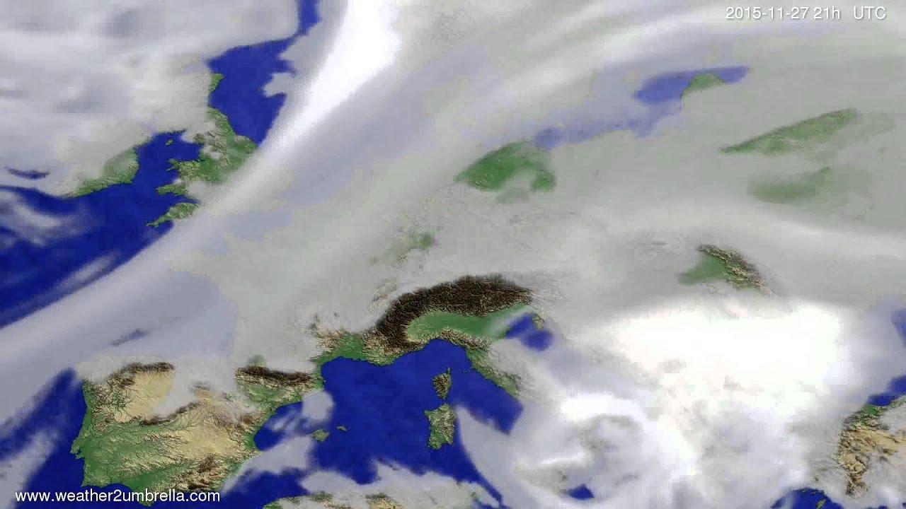Cloud forecast Europe 2015-11-24