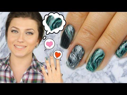 Как сделать мокрый эффект на ногтях