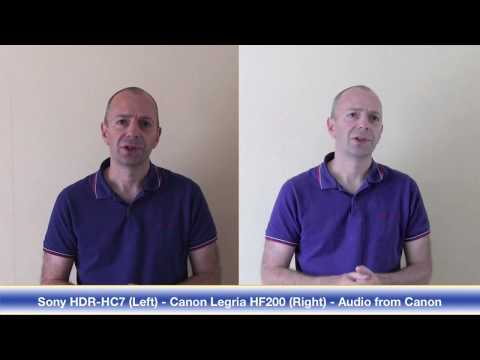 Canon Legria HF200 - Part 2 - Screen Menus & Video Footage Comparison