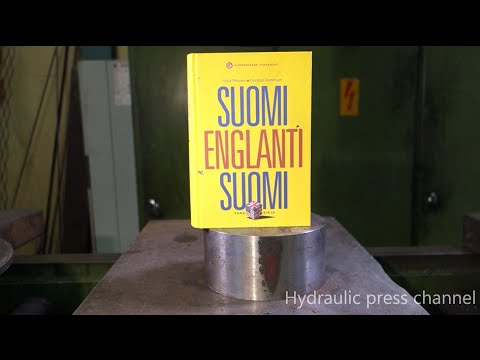 This is cooler than you think. Hydraulic Press Crushes Thick Book