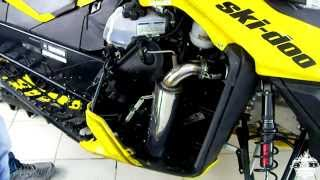 2. установка прямотока Ski-Doo Summit 800 E-Tec exhaus muffler sound