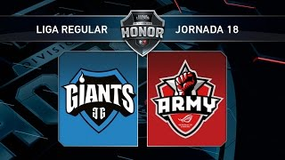 Giants Only The Brave vs Asus Rog Army - #LoLHonor18 - Mapa 1 - Jornada 18 - T11