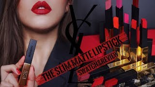YSL THE SLIM MATTE LIPSTICK SWATCH&REVIEW | YSL小金条细管唇膏试色&测评