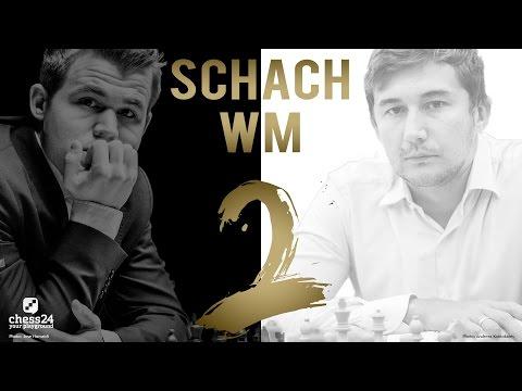 Schach WM 2016: Carlsen - Karjakin Partie 2 Schach WM 2 ...