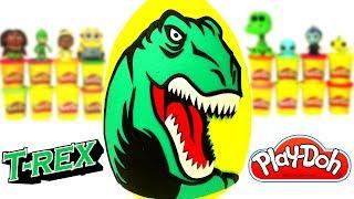Hola amigos! ¡Bienvenidos a Juguetes Felices! ¡Hoy tengo un huevo sorpresa gigante del Dinosaurio Tiranosaurio Rex. Suscríbete a mi Canal de JUGUETES ...