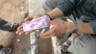 My brother Mr. Vasu didn't liked the dirt on new 2000 rupee note. So he washed it with Rin soap. It dries off within seconds. No damage to note. This is not ...