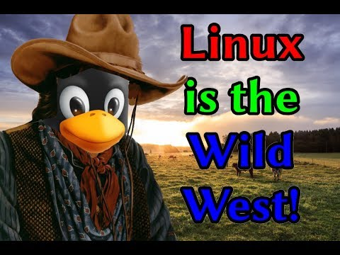 Linux is the Wild West! And let it be that way! Luke Smith Southeast Linuxfest 2018