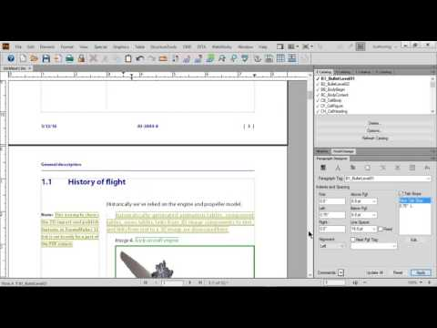 Adobe FrameMaker 2015, Basics of Paragraph Design, Character Design, and Page Layout