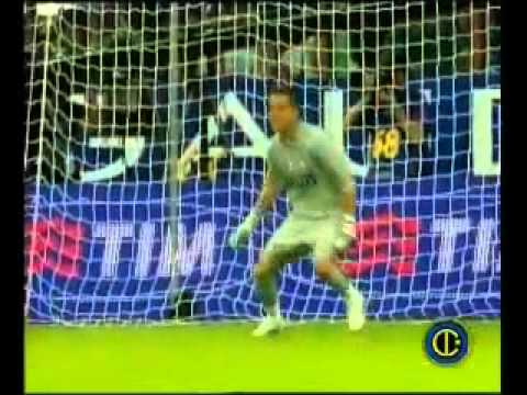 il rigore che decise la supercoppa italiana 2008 per l'inter!
