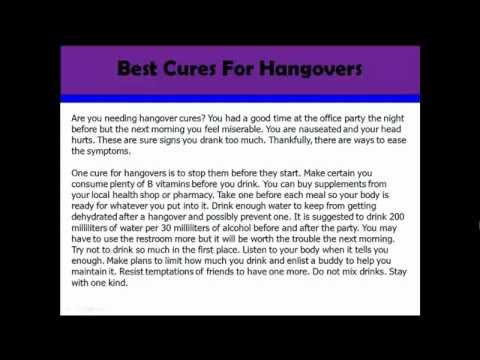 Video of Hangover Cures