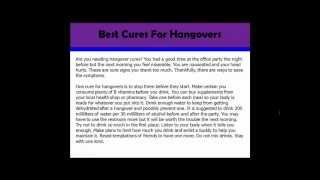 Hangover Cures YouTube video