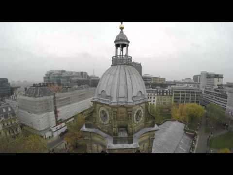 Unique views of Birmingham Cathedral and beautiful window