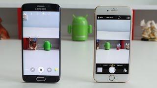 Samsung Galaxy S6 Edge Vs IPhone 6 Camera Test!