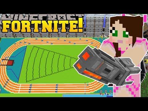Minecraft: OLYMPICS STADIUM - FORTNITE BATTLE ROYALE - Modded Mini-Game (видео)
