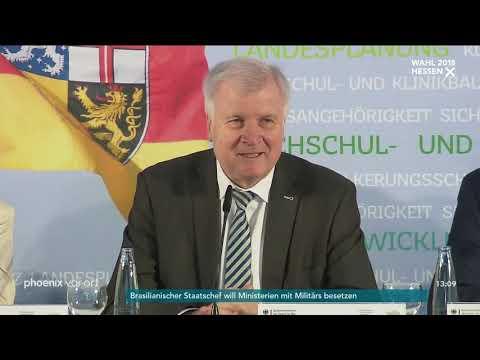 Horst Seehofer zum Verzicht von Angela Merkel auf den Parteivorsitz der CDU am 29.10.18