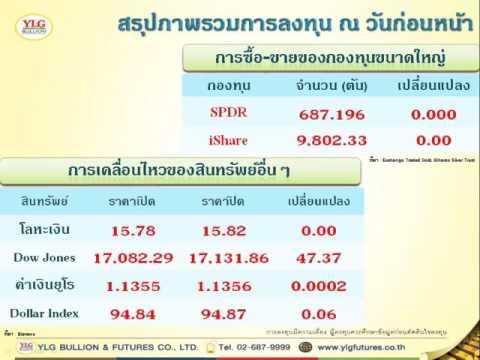 YLG บทวิเคราะห์ราคาทองคำประจำวัน 13-10-15