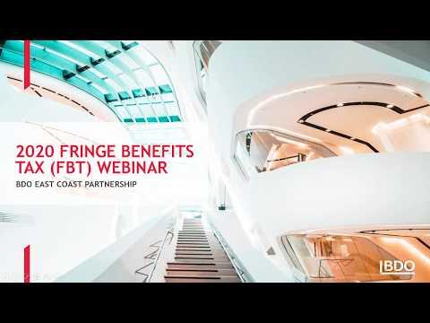 Webinar: Fringe Benefits Tax 2020