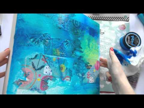 12 Days of Christmas Presents ~ DAY 9 ~ Mixed Media Canvas (видео)