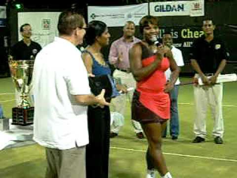 Serena Williams pledges to return to Barbados - BITE 2009 'Tennis Pon De Rock ...