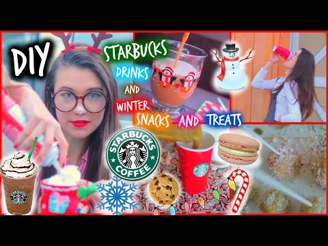 drinks - DIY Starbucks Drinks and Healthy Winter/Holiday Treats and Snacks CAN WE GET THIS TO 1000 LIKES?! You all really enjoyed my last DIY Starbucks Drinks video, so I decided to make a video that...