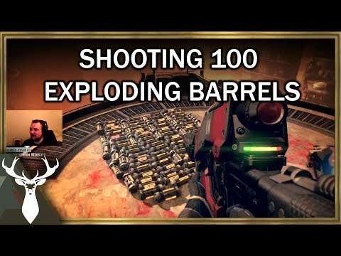 Shooting 100 Exploding Barrels in Destiny