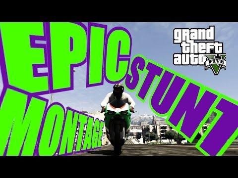GTA 5 Epic Moto stunt montage (видео)
