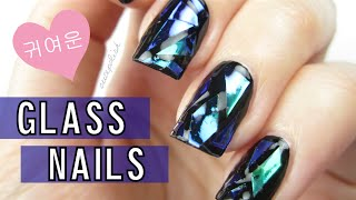 DIY Shattered Glass Nails [Korea Trend] - YouTube