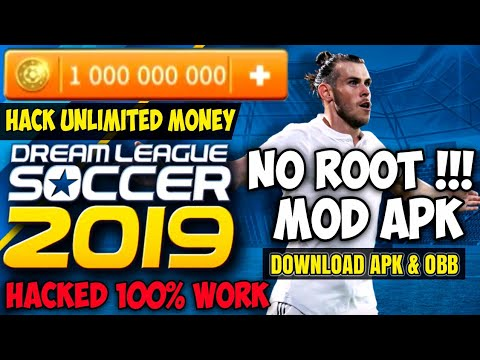 Cara Instal Dream League Soccer 2019 Hack Unlimited Money / Coins | Download DLS 19 Mod Apk & OBB