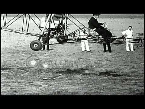 Link to order this clip: http://www.criticalpast.com/video/65675069456_Vought-Sikorsky-VS-300_Igor-Sikorsky_hovers-in-air_raises-from-ground Historic...