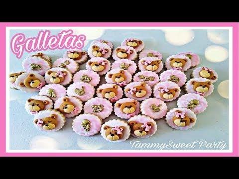 Uñas decoradas - Galletas de  BABY SHOWER  FÁCIL